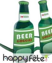 Lunettes bouteilles de bière i love beer