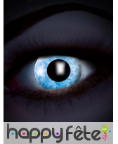 Lentilles bleues effet diamant UV