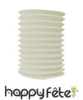 Lampion blanc ivoire cylindrique