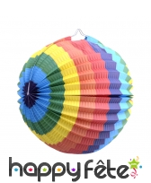 Lampion boule multicolore de 23cm