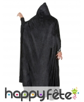Longue cape à capuche noir liseret squelette, image 2