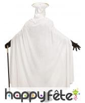 Longue cape blanche en velours avec capuche, 150cm, image 3