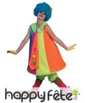Large combinaison de clown coloré pour femme