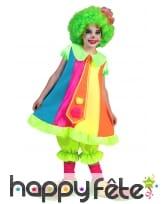 Large costume de clown coloré pour enfant