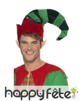 Long chapeau de lutin de Noël, image 1