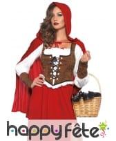 Long costume de chaperon rouge style médiéval, image 1