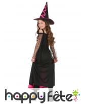 Long costume de petite sorcière noir et rose, image 2