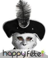 Loup carnaval de venise avec chapeau plume