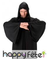 Longue cape noire à capuche pour homme, image 1