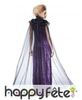 Longue cape noire en voile pour femme, image 1