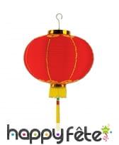 Lanterne chinoise rouge et dorée de 20cm