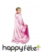 Longue cape rose réversible deluxe pour enfant