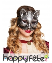 Loup chat Steampunk effet métal