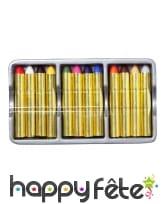 Lot de 12 crayons de maquillage