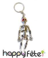 Lot de 12 porte clefs squelette