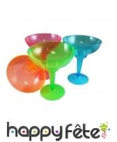 Lot de 12 verres à margarita en plastique coloré