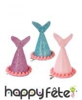 Lot de 3 chapeaux en forme de queue de sirène
