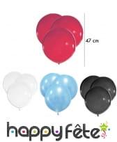 Lot de 5 grands Ballons, 47 cm
