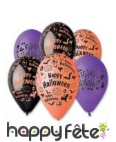 Lot de 6 ballons halloween imprimés
