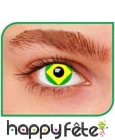 Lentilles drapeau Brésil