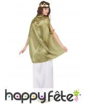 Long déguisement blanc de déesse, toge verte, image 2