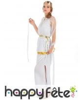 Long déguisement de déesse grecque blanche, image 1