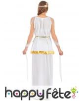 Long déguisement de déesse grecque blanche, image 2