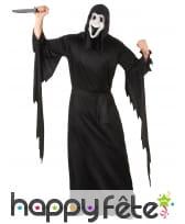 Long déguisement de scream avec masque