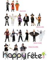 Lot de18 déguisements halloween pour enfants