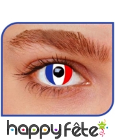 Lentilles drapeau francais