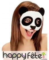 Loup de panda peluche pour adulte