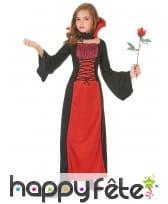 Long déguisement rouge noir de petite vampiresse, image 1
