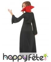 Long déguisement rouge noir de petite vampiresse, image 2