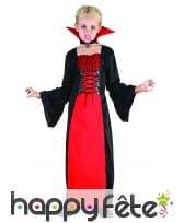 Long déguisement rouge noir de petite vampiresse, image 3