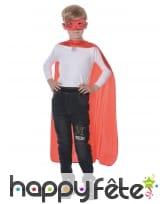 Loup et cape de super héros rouge pour enfant