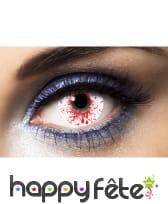Lentilles éclaboussures de sang
