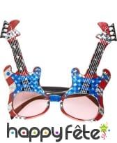 Lunettes en forme de guitares de rock USA