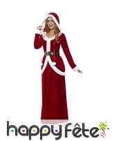 Long et luxueux déguisement de mère Noël