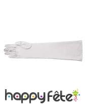 Longs gants blancs de 40 cm
