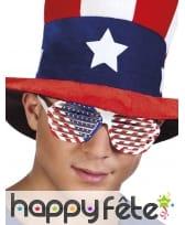 Lunettes grillage drapeau Amérique