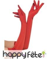 Longs gants rouges de 52cm