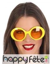 Lunettes hippies avec monture jaune