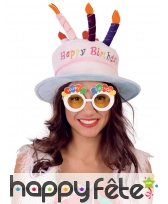 Lunettes Happy Birthday et ballons