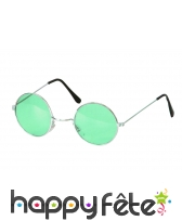Lunettes hippies vertes. Protection uv
