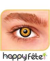 Lentille iris orange
