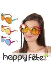 Larges lunettes papillon années 60