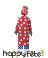 Long manteau de clown à pois pour adulte, image 1