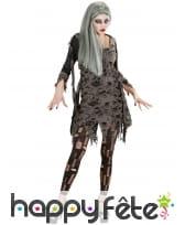 Legging noir avec trous effilés pour femme, image 1