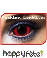 Lentilles noires contour rouge