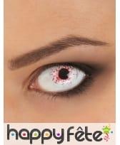Lentilles oeil tâché de sang